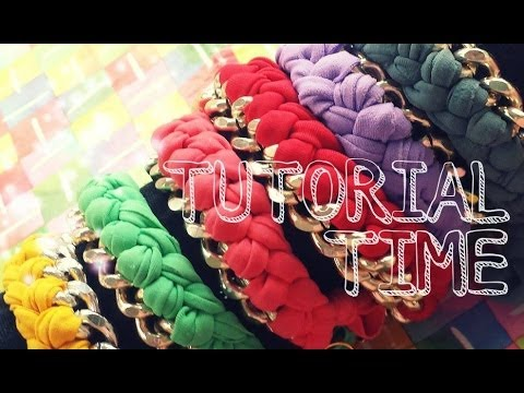 TUTORIAL TIME 1# - Bracelet chain and lycra / Bracciale con catena e fettuccia intrecciata