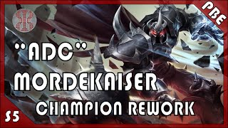 "Hue. No, but seriously, Hue Hue. Enough! ""ADC"" Mordekaiser is a thing now, and even if you dislike what riot has done to the master of metal, it' worth a watch in his current iteration.➜ Masteries: http://invaderxive.com/masteries#ycG6Xtgh000000➜ Runes:  Attack Damage Reds x9  Armor Yellows x9Magic Resist per Level Blues x9  Attack Damage Quints x3➜ Social links  ➜ Follow me on http://twitch.tv/invaderxive for live stream!  ➜ Play League of Legends for FREE: http://bit.ly/xivelolref  ➜ Subscribe for DAILY videos just like this! http://bit.ly/xivesub  ➜ Like me on Facebook! www.facebook.com/InvaderXive  ➜ Follow me on Twitter! www.twitter.com/InvaderXive  ➜ Join me over at Chat Channel ""InvaderXive"" in the NA LoL client➜ Donate :) http://bit.ly/TIMrBv (PayPal)➜ Music: Urban Summer Jungle - Teknoaxe http://youtu.be/QQtFiO8lpd8"