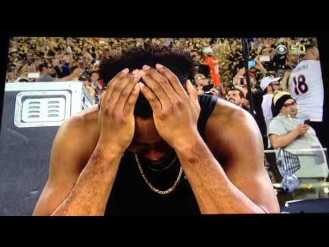 An emotional Josh Norman after Panthers loss to the Broncos