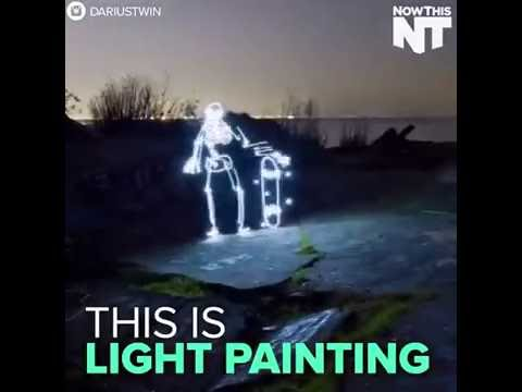 Make LED lights to create trippy paintings
