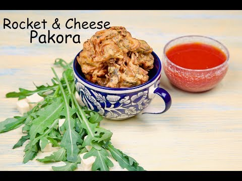 Rocket & Cheese Pakora