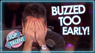 Video Judges BUZZ TOO EARLY On Britain's Got Talent! | Top Talent MP3, 3GP, MP4, WEBM, AVI, FLV Maret 2019