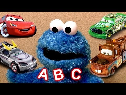 Learn the Alphabet ABC's With Cookie Monster Eats Cars Play-Doh Cookie Monster's Letter Lunch Disney
