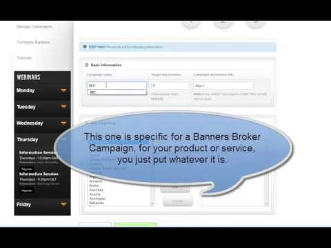 Banners Broker Campaign | How To Set One Up