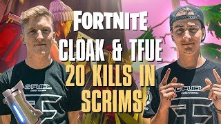FaZe Tfue & FaZe cLoak dropped 20 Kills in a Scrim Lobby...