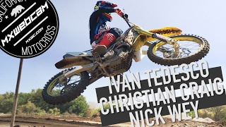 "Watch more MX videos http://www.mxwc.com/Subscribe to the channel http://youtube.com/mxwebcamThumbs up and share for more moto videos. Thank you for watching.YouTube Link https://youtu.be/W6J_27vxeRAMXWEBCAM Presents ""Pro Dirt Bike Riders - Tedesco, Craig, Wey""FILM LOCATION:Milestone MX ParkRIDERS:Ivan Tedesco, Nick Wey, Christian CraigCOUNTY:Riverside, CaliforniaVIDEO PRODUCTION:mxwebcam - mxwc.com"