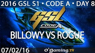 Billowy vs Rogue - PvZ - 2016 GSL S1 Code A - Day 8