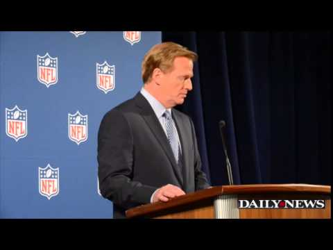 abuse - NFL Commissioner Roger Goodell gave a press conference in New York about the recent handling of domestic abuse.