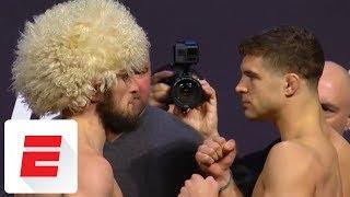 Video UFC 223 weigh-in for Khabib Nurmagomedov vs. Al Iaquinta | ESPN MP3, 3GP, MP4, WEBM, AVI, FLV Desember 2018