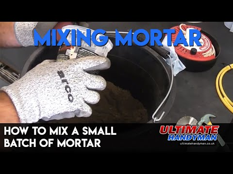 How to mix a small batch of Mortar