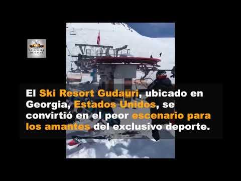 Terror en las alturas deja heridos a esquiadores