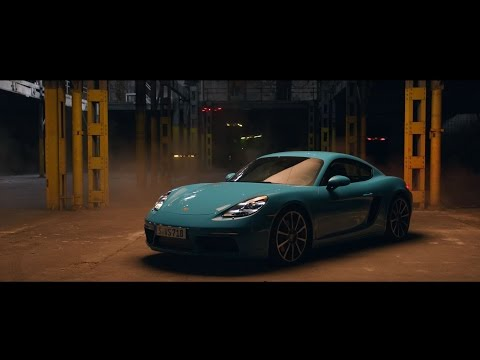 Race drones vs Porsche 718 Cayman