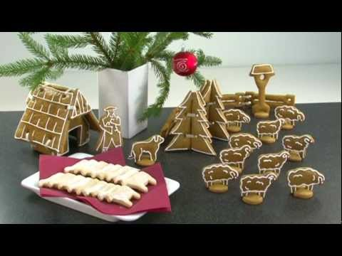 Видео Формочки для печенья из металла Tescoma Пряничный домик DELICIA, Tescoma 631424