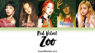 Red Velvet (레드벨벳) – Zoo Color Coded Lyrics [Han•Rom•Eng]