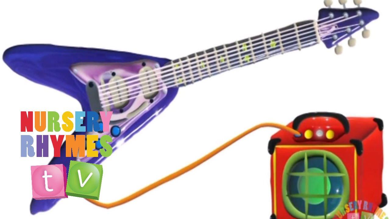 FLYING V GUITAR | Preschool Learning Videos. Music for Kids