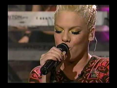 P!nk   God Is A DJ Live on Jay Leno and Interview 2003