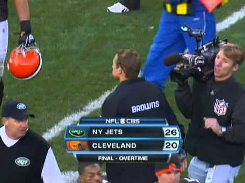 Santonio Holmes - The former Super Bowl MVP runs 37 yards to daylight with 0:14 left in OT to defeat the Browns in Cleveland.