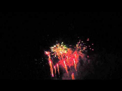 Feuerwerk 19.07.13 Rummelsburger Bucht Berlin Köpenick