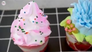 Cách làm bánh Cupcake trang trí các loại hoa