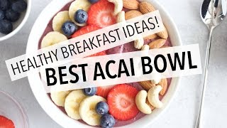 """★ Full recipe (with calorie breakdown): http://liezljayne.com/how-to-make-the-best-acai-bowl-healthy-breakfast-idea/★ MY WEIGHT LOSS GUIDE & MEAL PLAN: http://guides.liezljayne.com/guides/★ FREE 3 DAY EATING PLAN: http://guides.liezljayne.com/3-day-eating-plan/*This video in NOT sponsored  - All opinions are my own.-----------------------------------------------------------------------------★ My """"WHAT I EAT IN A DAY TO LOSE WEIGHT"""" Series:What I eat (DAY 1): https://www.youtube.com/watch?v=7chUi3RYpwMWhat I eat (DAY 2): https://youtu.be/Gt5rru0KRGYWhat I eat (DAY 3): https://www.youtube.com/watch?v=q2Km5aUDc1oWhat I eat (DAY 4): https://www.youtube.com/watch?v=7JjX_2r17GYWhat I eat (DAY 5): https://www.youtube.com/watch?v=dE10sMu2f20What I eat (DAY 6): https://www.youtube.com/watch?v=dXqg1P_qHAU&t=4sWhat I eat (DAY 7): https://www.youtube.com/watch?v=dXqg1P_qHAU&t=18sWhat I eat (MEAL PLAN): https://youtu.be/JhLLf_GAPW4What I eat (DAY 8): https://www.youtube.com/watch?v=85doO03XM5sWhat I eat (DAY 9): https://youtu.be/Vw9O9N-7FXE----------------------------------------------------------------------★ My Links:BLOG: http://liezljayne.com/INSTAGRAM: https://www.instagram.com/liezljayne/FACEBOOK: https://www.facebook.com/liezljayne.blogTWITTER: https://twitter.com/liezljaynePINTEREST: https://pinterest.com/liezljayne/★ Check out my weight-loss guide & meal plan: http://guides.liezljayne.com/guides/★ FREE downloads on my blog: http://guides.liezljayne.com/free/---------------------------------------------------------------------★ Other helpful info and videos:Free 3 Day Weight-loss Eating Plan: http://guides.liezljayne.com/3-day-eating-plan/Free Exercises for Fat-loss: http://guides.liezljayne.com/5-essential-exercises/ My 16 Minute Fat-burning Workout: http://liezljayne.com/16-minute-workout-challenge/How To Start Losing Weight Fast (in 5 Steps): http://liezljayne.com/how-to-start-losing-weight-fast-5-steps-to-take/My Top 3 Weight-loss Smoothie Recipes: https://www.youtub"""
