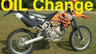 5. KTM EXC Oil change and fillers - 400 450 520