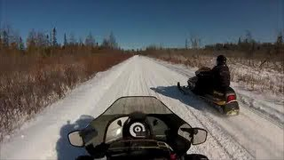 10. Passing two Sleds on Michigan Trails
