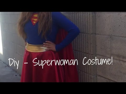 DIY - Superwoman Halloween Costume + Makeup!