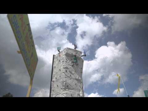 The Climbing Wall at Bromley Mountain!