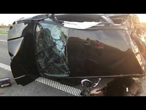 Wideo: Wypadek na S3 w Lubinie