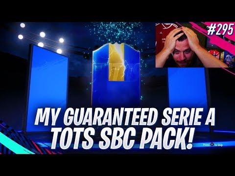 FIFA 19 MY GUARANTEED SERIE A TOTS SBC PACK! WE PACK AN AMAZING PLAYER!