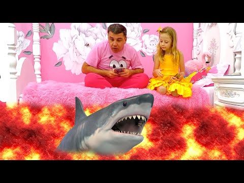 The Floor is Lava with Nastya and dad