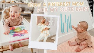 being a pinterest mom during quarantine!! diy baby toys and new dinner recipe! by Aspyn + Parker