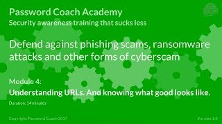 Password Coach Academy - Module 4 – Understanding URLs. And knowing what good looks like.