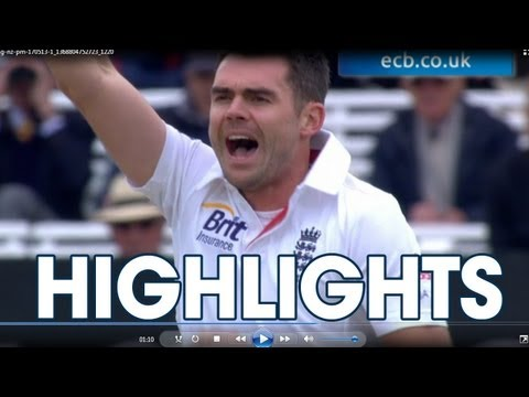 anderson - Highlights from the afternoon session of Day 2 of the Investec Test at Lord's between England and New Zealand including James Anderson taking his 300th Test ...