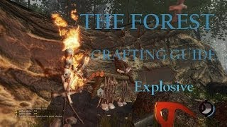 The Forest (Survival Horror Sandbox Crafting PC Game) Tutorial Crafting Guide: Explosive