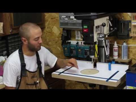 Custom Drill Press Table with Rockler's Drill Press Fence