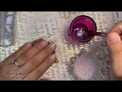 Videos de uñas - Diseño de UÑAS ACRILICAS COLOR MAUVE Y Flores en 5D / CÓMO HACER ACRÍLICOS