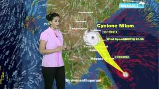 India Nilam Cyclone Update- Skymet Weather Report