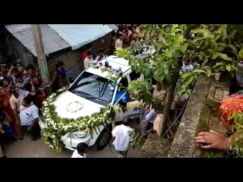 Last rites of SI Amitava Malik who was killed by Bimal Gurung followers