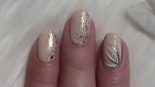 Einfaches Nageldesign für kurze Nägel zum selber machen / Simple Nail Art Design for short nails - YouTube