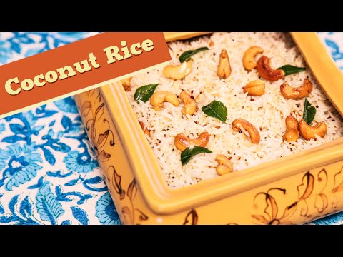 Coconut Rice | South Indian Rice Recipe | Divine Taste With Anushruti