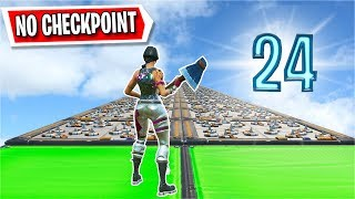 The 24 Level NO CHECKPOINT Deathrun... (Fortnite Creative)