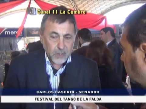DECLARACIONES A CANAL 11: EL SENADOR CASERIO EN EL FESTIVAL DEL TANGO DE LA FALDA