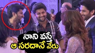 Video Hero NANI & ANJANA @ Samantha naga chaithanya marriage Reception | Filmylooks MP3, 3GP, MP4, WEBM, AVI, FLV November 2017