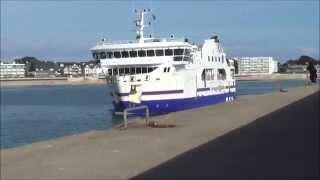 Bangor France  city photos : Belle-Île-en-Mer à Quiberon ; Bateau ; le Bangor Arrive à Quai ; Bretagne ; France
