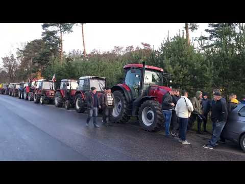 Wideo1: Protest rolników na DK12