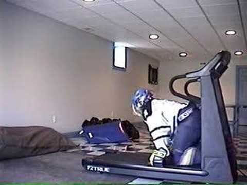Hockey Treadmill Crash