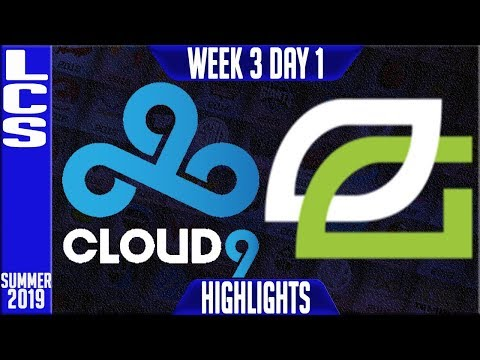 C9 Vs OPT Highlights | LCS Summer 2019 Week 3 Day 1 | Cloud9 Vs Optic Gaming