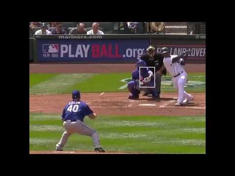Bartolo Colon Takes Hard Line Drive