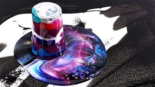 Video Acrylic galaxy pouring - Somewhere out there - Flip Cup Technique MP3, 3GP, MP4, WEBM, AVI, FLV Maret 2019